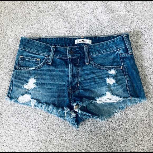 Hollister Pants - Hollister Destroyed Denim Shorts Size 5/W27.